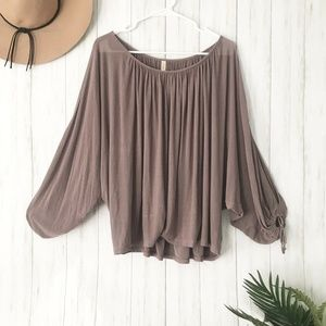 Free People | Mauve Balloon Sleeve Blouse Size XS